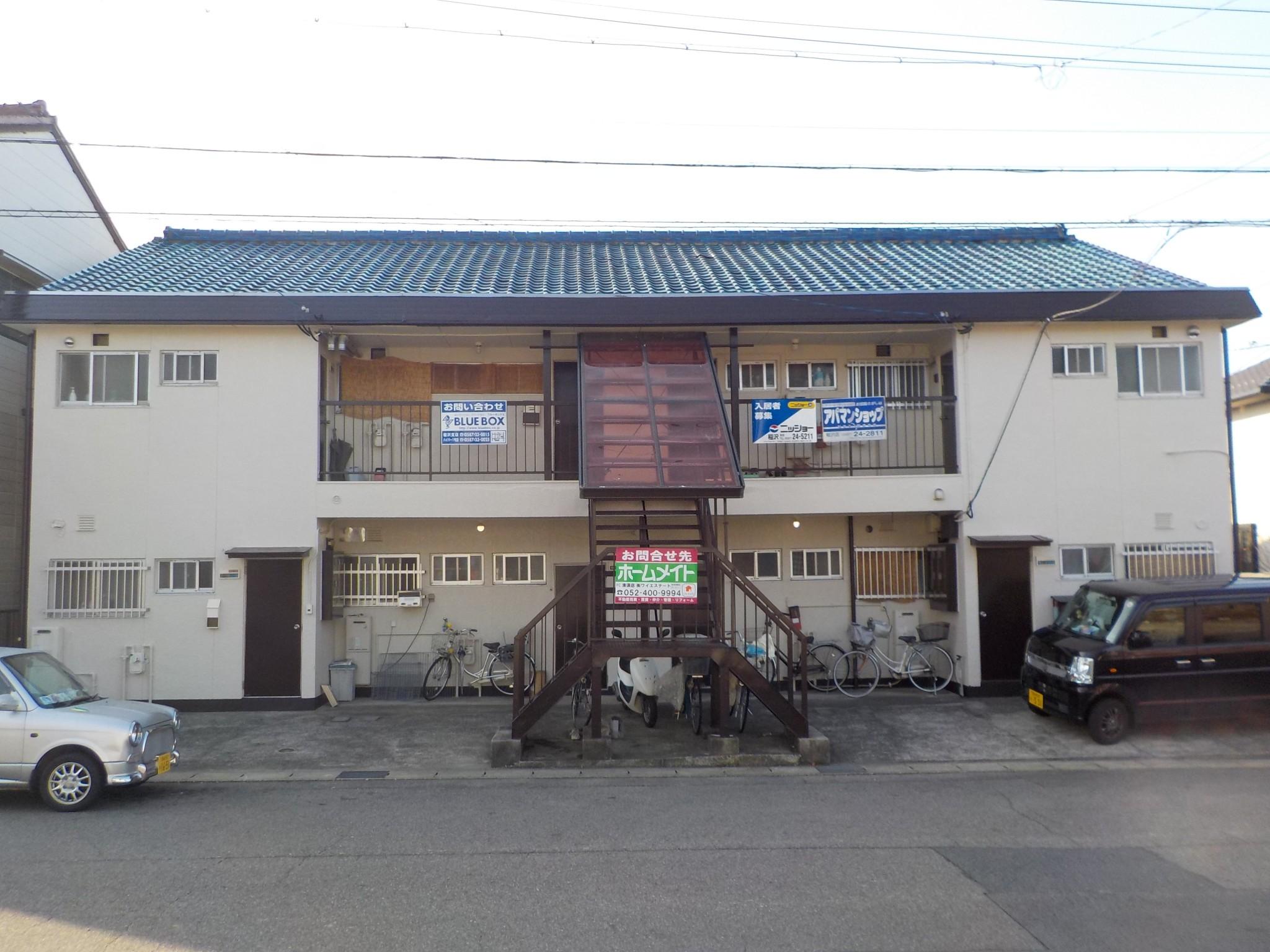 稲沢市 Kアパート様 外壁塗装工事