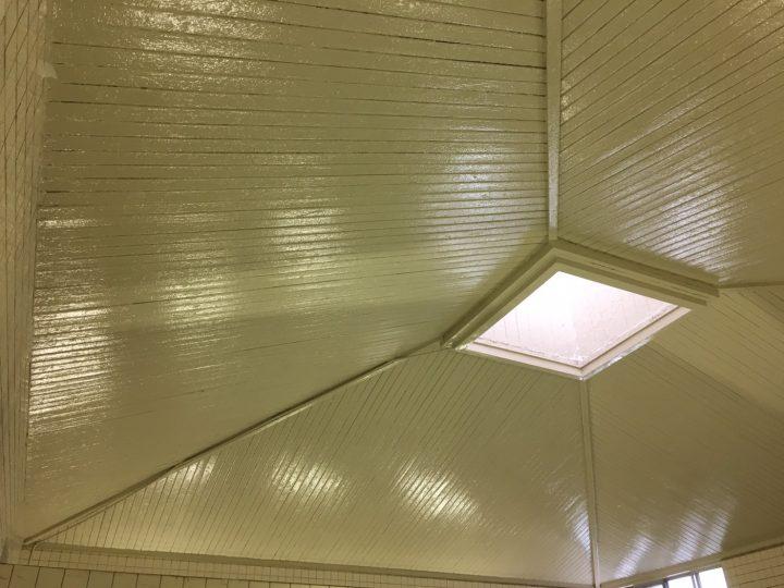 一宮市 H浴場様 天井塗装工事