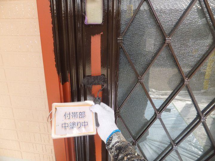玄関ドア塗装②