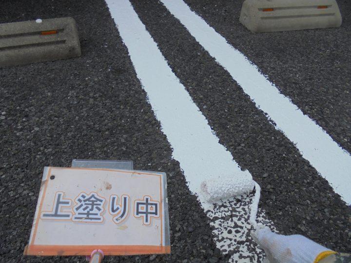 駐車場ライン塗装