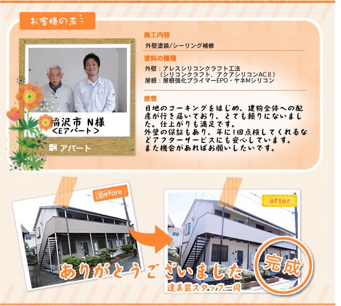 稲沢市 N様 Eアパート