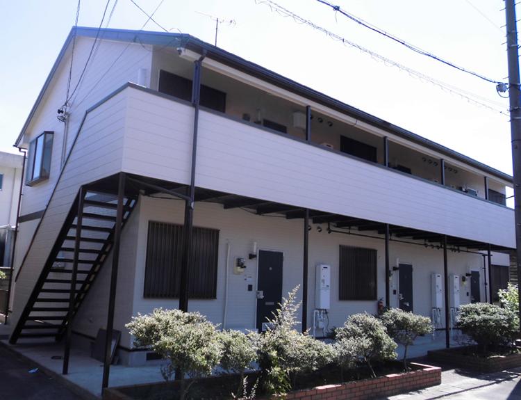 稲沢市 EアパートN様 外壁塗装工事