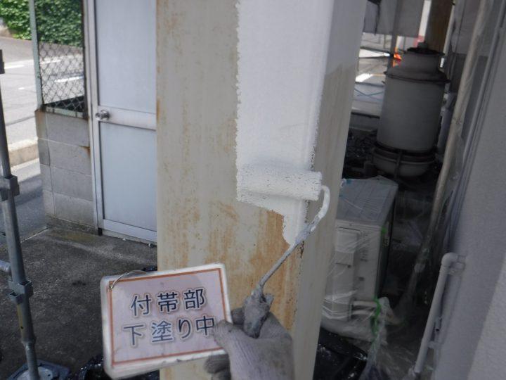 鉄柱塗装①