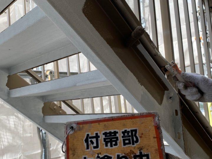 階段塗装②