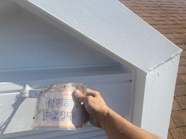 小屋根塗装③