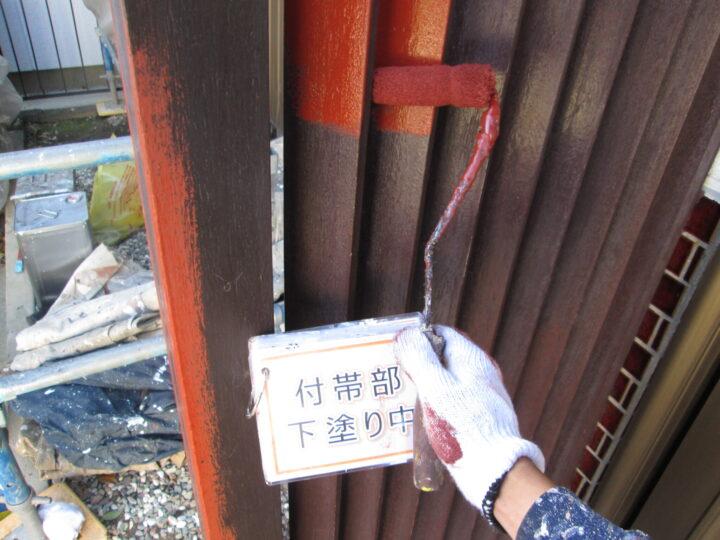 玄関木部塗装②