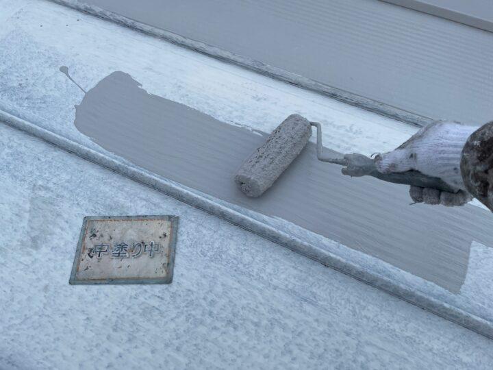 瓦棒屋根塗装②