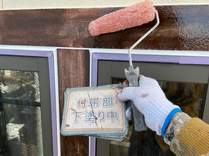 窓枠塗装②