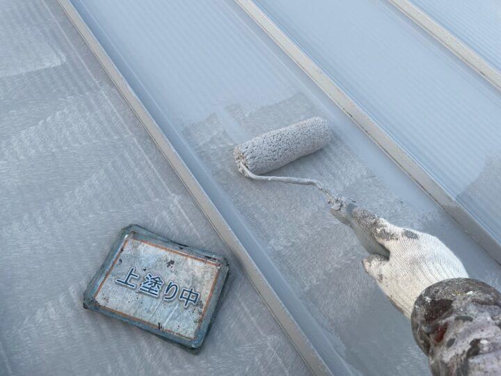瓦棒屋根塗装③