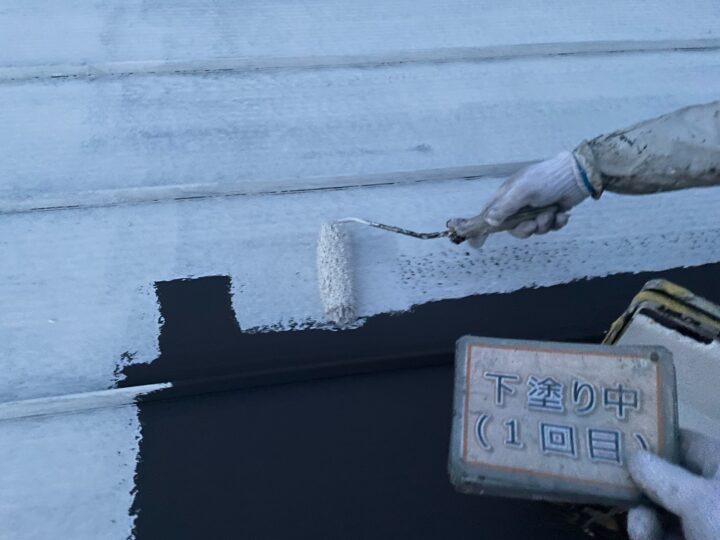瓦棒屋根塗装①