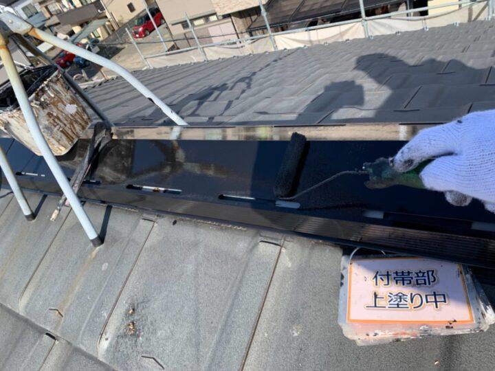 屋根棟板塗装②